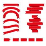 Conjunto de cintas y de escrituras de la etiqueta Ilustración del vector Ilustración del Vector