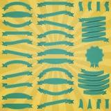 Conjunto de cintas y de escrituras de la etiqueta retras Imagen de archivo libre de regalías