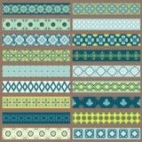 Conjunto de cintas y de fronteras Imagen de archivo libre de regalías