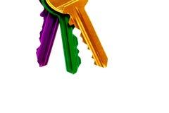 Conjunto de claves coloridos Imagen de archivo libre de regalías