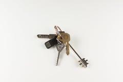 Conjunto de claves en el fondo blanco Imágenes de archivo libres de regalías