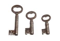 Conjunto de claves esqueléticos Imágenes de archivo libres de regalías
