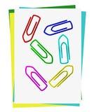 Conjunto de clips de papel coloreados Imagen de archivo libre de regalías