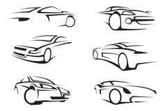 Conjunto de coches Fotografía de archivo libre de regalías