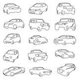 Conjunto de coches Imagen de archivo libre de regalías