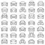 Conjunto de coches Fotografía de archivo