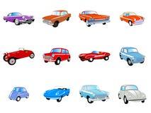 Conjunto de coches clásicos Imagen de archivo libre de regalías