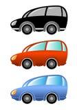 Conjunto de coches de la historieta Foto de archivo libre de regalías