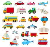 Conjunto de coches de la historieta Fotografía de archivo