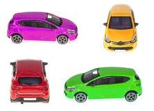 Conjunto de coches del juguete Fotos de archivo