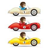 Conjunto de coches retros Imagenes de archivo
