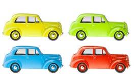 Conjunto de coches retros Imagen de archivo