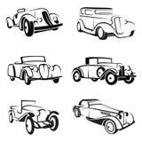 Conjunto de coches retros Imágenes de archivo libres de regalías