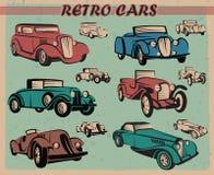 Conjunto de coches retros Foto de archivo