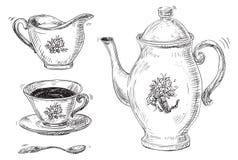 Conjunto de Cofee Imágenes de archivo libres de regalías