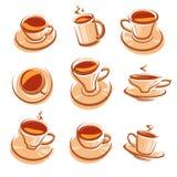 Conjunto de Cofee Fotos de archivo libres de regalías
