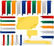Conjunto de colgar banderas del Web de Origami Foto de archivo libre de regalías