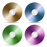 Conjunto de color del CD o de DVD Imágenes de archivo libres de regalías