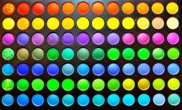 Conjunto de colores del maquillaje Imagen de archivo libre de regalías
