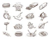 Conjunto de comida Imágenes de archivo libres de regalías