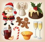 Conjunto de comida del festeve Imágenes de archivo libres de regalías