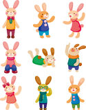 Conjunto de conejo Imagen de archivo libre de regalías