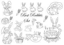 Conjunto de conejos Imagen de archivo libre de regalías
