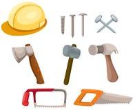 Conjunto de construcción de las herramientas Fotos de archivo