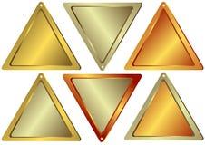 Conjunto de contadores de la forma triangular stock de ilustración