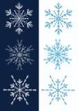 Conjunto de copos de nieve. Fotografía de archivo libre de regalías