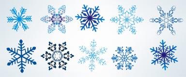 Conjunto de copos de nieve Foto de archivo libre de regalías