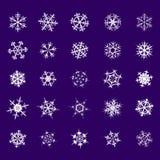 Conjunto de copos de nieve Imagen de archivo