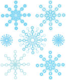 Conjunto de copos de nieve Fotos de archivo