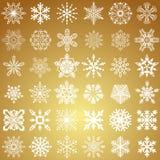Conjunto de copos de nieve del vector Fotos de archivo libres de regalías