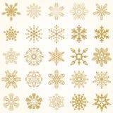 Conjunto de copos de nieve del vector Imagen de archivo libre de regalías