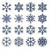 Conjunto de copos de nieve del vector Textura del copo de nieve para la decoración Símbolo geométrico de la nieve Imagenes de archivo