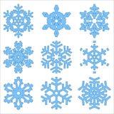Conjunto de copos de nieve de la Navidad Imagenes de archivo