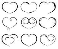 Conjunto de corazón del símbolo Imágenes de archivo libres de regalías