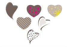 Conjunto de corazones Imagen de archivo libre de regalías