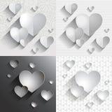 Conjunto de corazones Fotografía de archivo libre de regalías