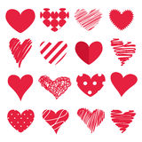 Conjunto de corazones Fotos de archivo libres de regalías