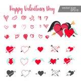Conjunto de corazones Imagen de archivo