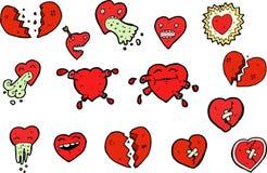 Conjunto de corazones decorativos del amor Imagen de archivo libre de regalías