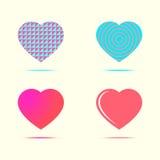 Conjunto de corazones Ilustración del vector Fotos de archivo libres de regalías