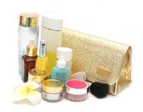 Conjunto de cosméticos femeninos Imagen de archivo