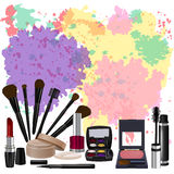 Conjunto de cosméticos Ilustración del vector Imágenes de archivo libres de regalías