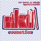 Conjunto de cosméticos sticker Fotografía de archivo libre de regalías