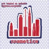 Conjunto de cosméticos sticker Fotos de archivo libres de regalías