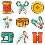Conjunto de costura Imagen de archivo libre de regalías