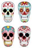 Conjunto de cráneos mexicanos del azúcar Imagenes de archivo